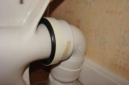 joint d'évacuation de WC